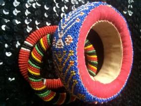 Antiker afrikanischer Armreif - blau